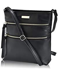 Leather Crossbody Purse for Women- Premium Crossover...