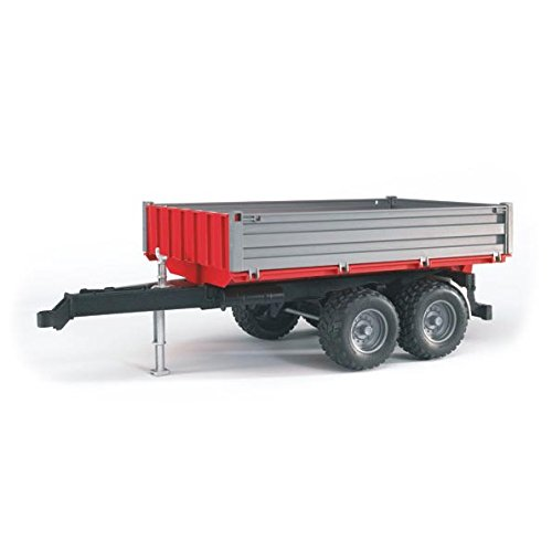 Axles Trailer Tractor - Bruder Tipping Trailer With Grey Sides