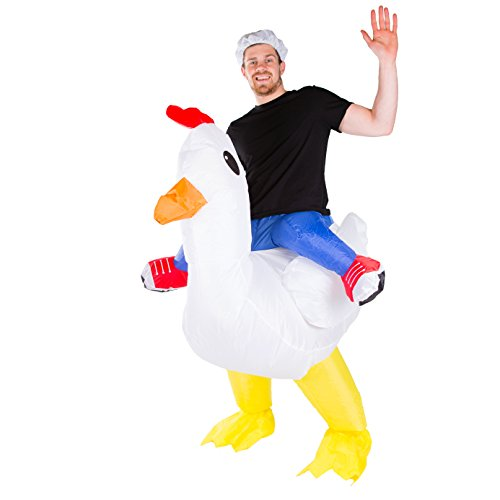 Bodysocks Adult Inflatable Chicken Fancy Dress Costume ()