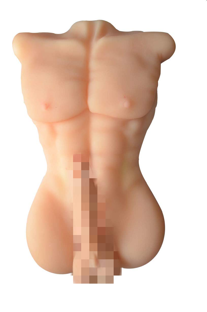 Safe & Durable Medical Grade Silicone Doll Man Body Torso Model Doll Adult Toys for Men for Women's Surprise Birthday Gift Party Gifts US Shipping (Flesh) by DERUIISSK