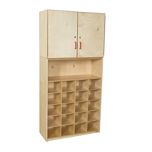 """Wood Designs WD56209(20) Baltic Birch Plywood Tray Vertical Storage Cabinet without Trays 15x36x75"""" (H x W x D)"""