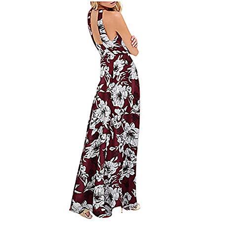 Vestido Primavera Cintura Maxi Alta Delgado Mujer Halter Vaina Wine XXL TTDRESS tqxpwCX8f
