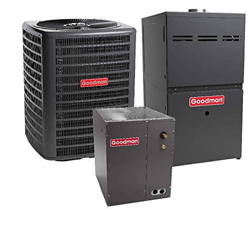(Goodman 3 Ton 17 SEER R-410A Two Stage Variable Speed Gas Furnace with Air Conditioner Split System )