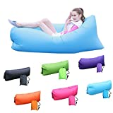 Krevia Camping Lounger Sofa Inflatable Sleeping Bag Beach Hangout Lazy Air Bed