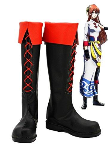 Bromeo Gintama Kagura Cosplay Schuhe Stiefel Stiefeletten