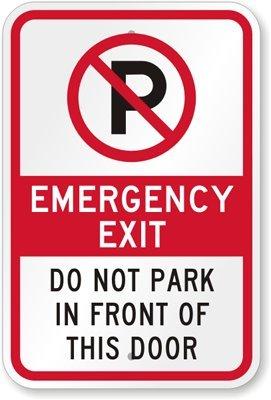 Amazon.com: Cartel para puerta de salida de emergencia, No ...