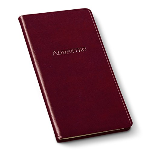 Gallery Leather Pocket Address Organizer Acadia Burgundy ()