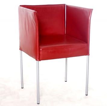 Sessel Besprechungsstuhl Kff Echtleder Rot Gebrauchte Buromobel
