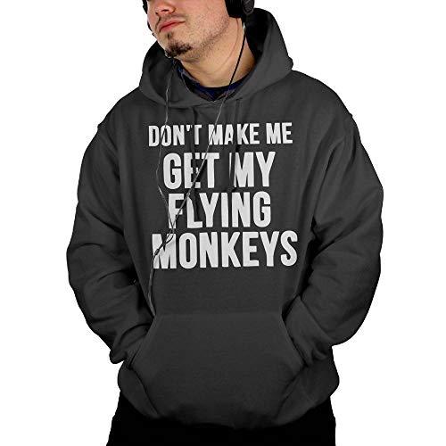 Flying Monkeys Hooded Sweatshirt - Riokk Az Hooded Pullover Sweatshirts Don't Make Me Get Flying Monkeys Mens