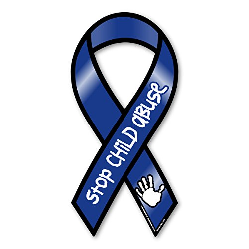 Stop Child Abuse Now Awareness 2 in 1 Ribbon Magnet