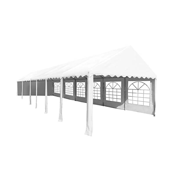 Shengfeng Gazebo da Giardino in PVC 6x12 m Bianco.gazebo pieghevole gazebo da giardino gazebo eurolandia gazebo esterno… 4 spesavip