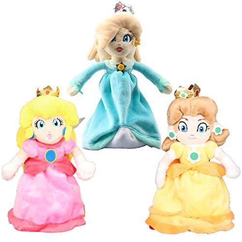 uiuoutoy Super Mario Bros. Princess Peach & Daisy & Rosalina Plush 8'' Set of -