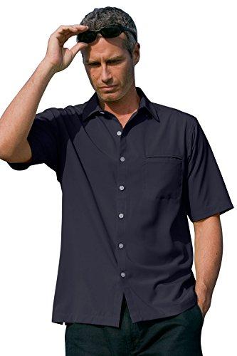 Vantage Men's Vansport Woven Camp Shirt, Navy, XL