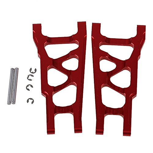 BQLZR Red SLA007 Aluminum Alloy Front & Rear Suspension Arms Upgrade Parts for TRAXXAS SLASH 4X4 & HQ727 Short Truck RC Car Pack of 2 ()