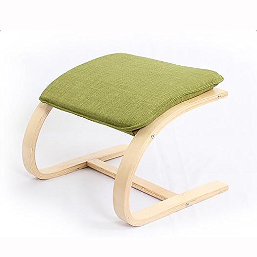 ZAYJD XRXY Bentwood Footstool/Simple Solid Wood Changing His Shoes Stool/Creative Stool (4 Colors Optional) (Color : Green) 4 Bentwood Stools