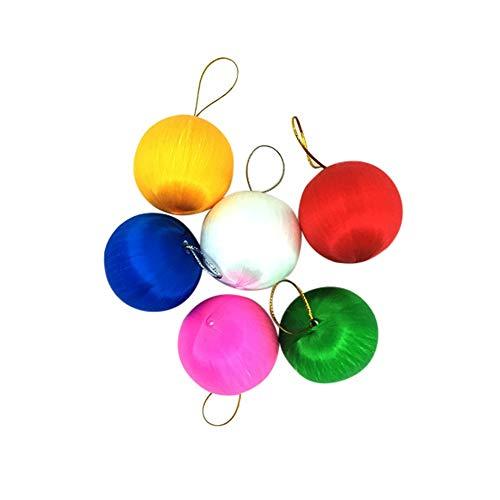 - 6Pcs Christmas Ball Baubles, Shatterproof Hang Balls Pendant Xmas Tree Decoration Set Hanging Ornament Decor (A)