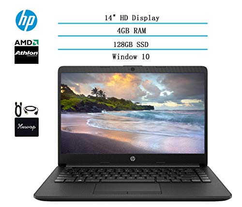 2020 HP 14 inch HD Laptop Newest for Business and Student, AMD Athlon Silver 3050U (Beat i5-7200U), 4GB DDR4 RAM, 128GB…