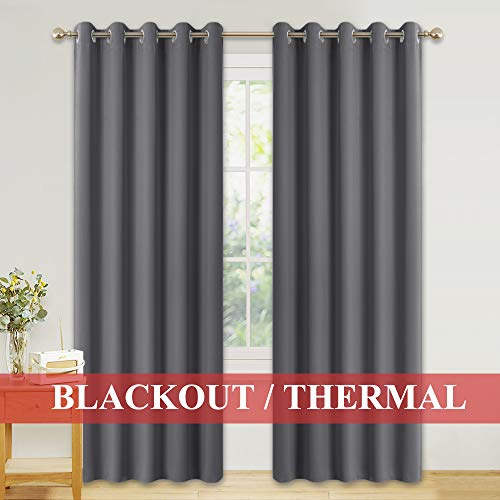PONY DANCE Large Blackout Curtains - Eyelet Top...
