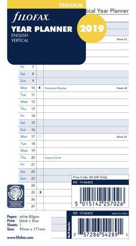 Filofax - Agenda, año Personal, 2019, Vertical, 19 - 68402 ...