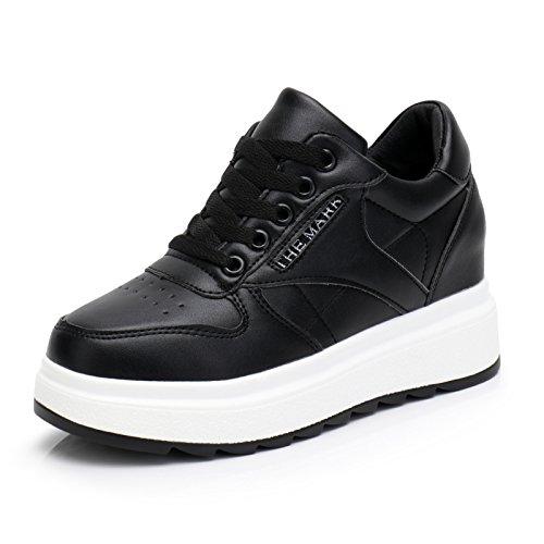 Estudiantes HBDLH Alto Calzados Grueso Fondo Tacones Ocio Zapatos De Mujer 7Cm black Junta De Otoño Altos Deportivo Frenties El Primavera Y Zapatos Dentro 4rqwYpRr