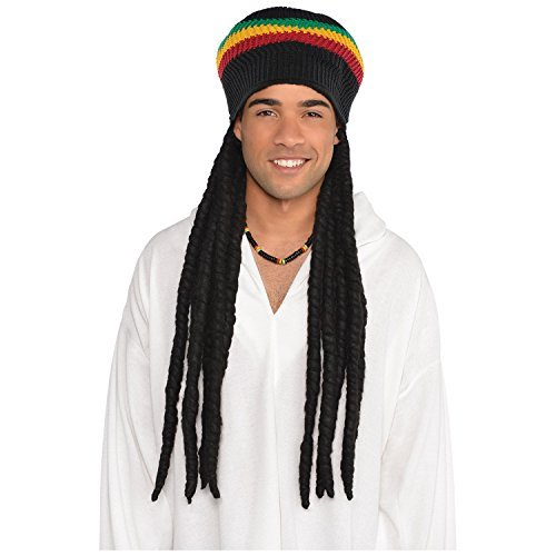 Amscan Rasta Dreadlock Wig with Tam ()