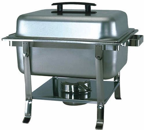 Update International CC-9P Stainless Steel Continental Chafer with Welded Legs, Rectangular, Mirror Finish, (Update International Chafer)