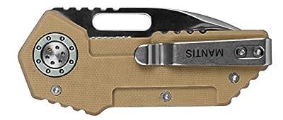 "Mantis Knives MT-9D ""Wile E"" High Tech Folding Blades Knife, Beige"