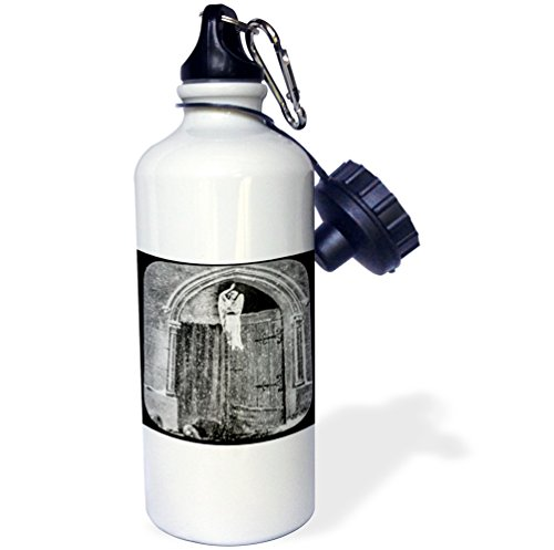 Victorian Gate (3dRose Scenes from the Past Magic Lantern - Victorian Tale The Gates of Heaven No. 6 Vintage 1890 Angel - 21 oz Sports Water Bottle (wb_246180_1))