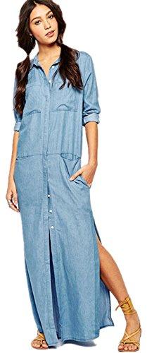 Buy maxi dress and denim shirt - 7