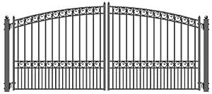 ALEKO Paris Style Iron Wrought Gate 12' Ornamental Dual Swing Driveway Gates 12'