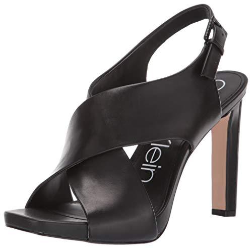 Calvin Klein Women's MYRA Pump, Black Leather, 6 M US
