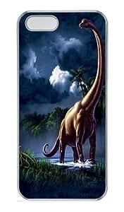 iPhone 5S Case and Cover -Brachiosaurus Dinosaur PC Hard Plastic Case for iPhone 5/5S Transparent
