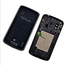 Black New LG Nexus 4 E960 Back Battery Door Rear Cover Replacement