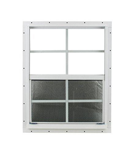 21 X 27 Shed Window Safety Glass Storage Shed Garages Playhouse Tree House (White J-Channel) by Shed Windows and More (Image #1)