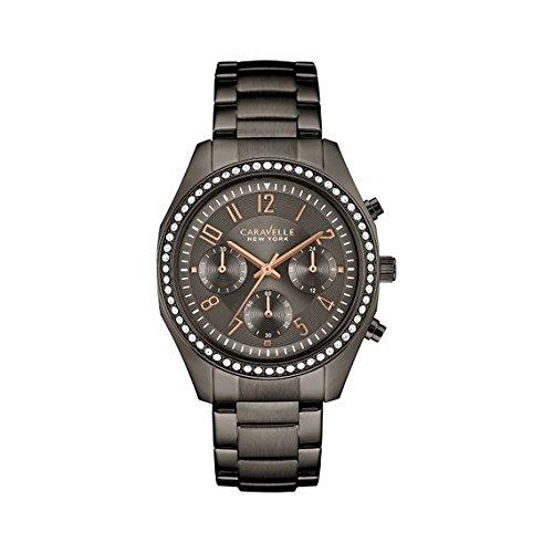 (Caravelle New York Women's 45L161 Swarovski Crystal  Stainless Steel Watch )