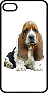 Droopy Ears Basset Hound Black Rubber Case for Apple iPhone 5 or iPhone 5s
