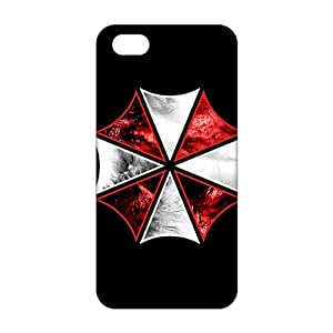 Evil-Store Red and white umbrella 3D Phone Case for iPhone 5s