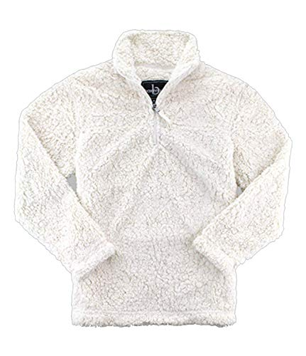 boxercraft Adult Quarter Zip Sherpa Pullover-Natural-Large by boxercraft