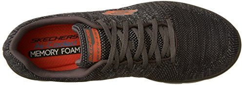 Skechers Sport Herren Flex Advantage 2.0 Sneaker Holzkohle / Orange