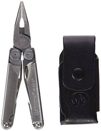 037447710636 - Leatherman 830039 Wave Multitool with Leather/Nylon Combination Sheath, Silver carousel main 1