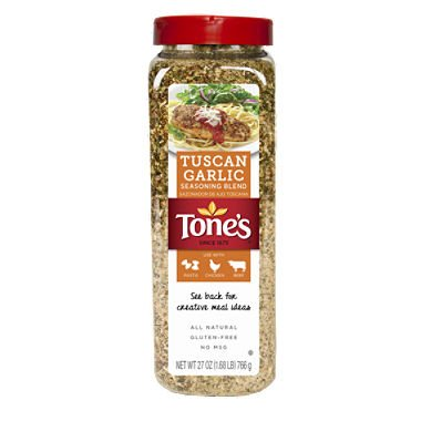 Tone's Tuscan Garlic Seasoning Blend (27 oz.) (pack of 2) (Pepper Tones Garlic Seasoning)
