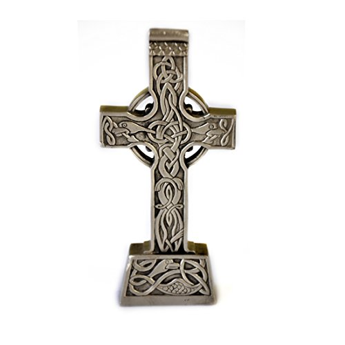 (Standing Celtic Cross Pewter Home Decor Made in Ireland)