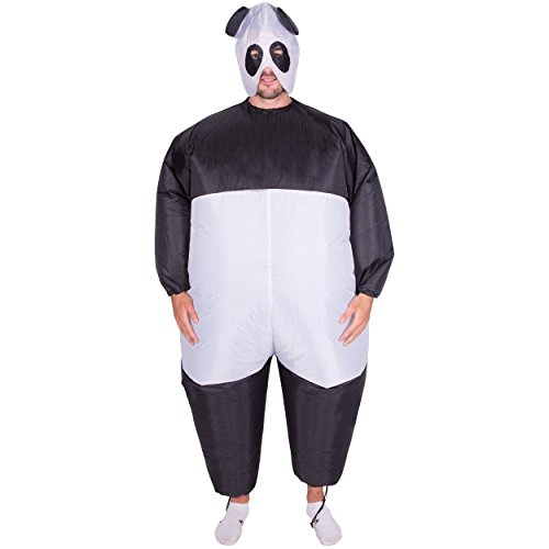 Bodysocks - Inflatable Panda Blow Up Fatsuit Animal Safari Adult Fancy Dress Costume - Safari Outfits For Adults