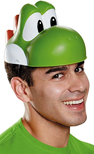 Disguise Men's Yoshi Mask Costume Accessory - Adult, Green, One Size]()