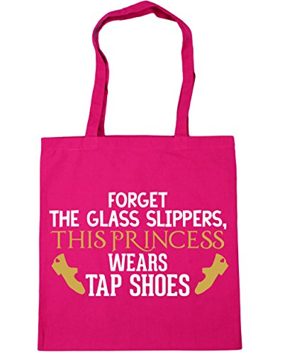 this Tote 10 x38cm shoes HippoWarehouse Shopping slippers glass Fuchsia Gym princess wears Bag the 42cm tap Beach Forget litres wWHqgp