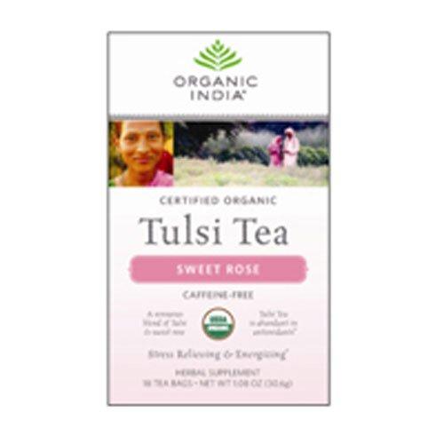 Organic India Tea Tulsi Sweet Rose - 25 Tea Bags