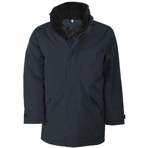 negro Forest Hombre Jacket Chaqueta Para Padded Kariban Verde Parka 4awq80Fcv1
