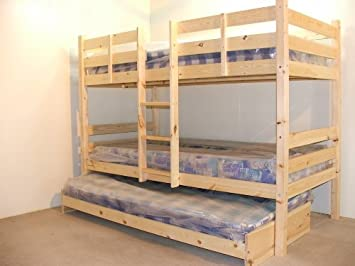 Bunkbed with trundle guest bed 3ft Single Bunk Bed with underbed