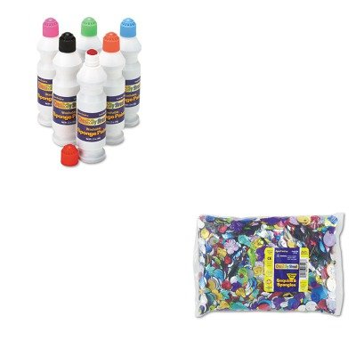 KITCKC2400CKC6118 - Value Kit - Creativity Street Sequins amp;amp; Spangles Classroom Pack (CKC6118) and Creativity Street Sponge Paint Set (CKC2400) by Creativity Street