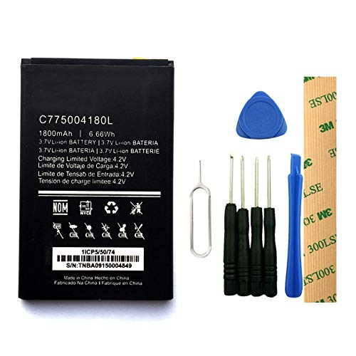 for BLU Advance 5.0 D030UX Replacement Battery C775004180L Free Adhesive Tool